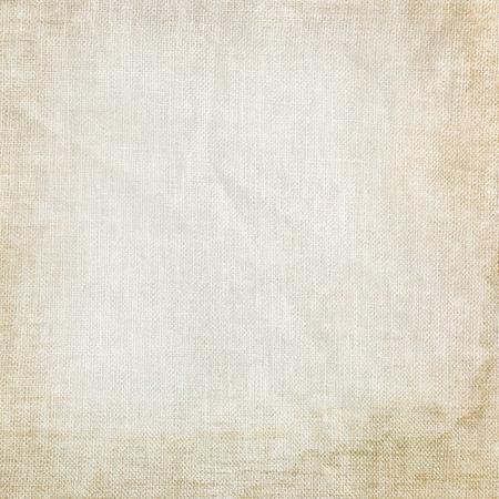 white linen: old canvas texture grunge background Stock Photo