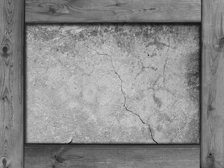 wood frame: wood frame border and stone wall texture background