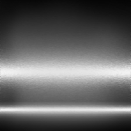 gloss banner: black and white metal texture abstract background Stock Photo