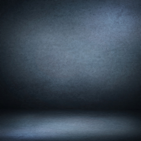 navy blue suede background and beam of lights, empty room as grunge background texture Stock Photo