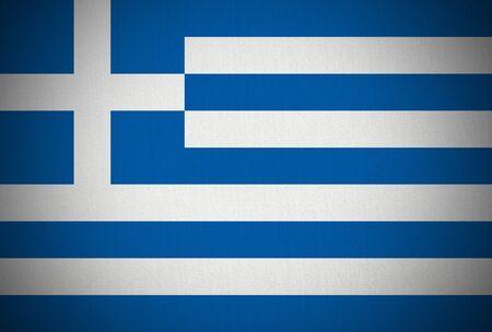 cockade: greek flag canvas texture and black vignette