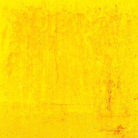 painted wall: yellow background painted wall texture Stock Photo