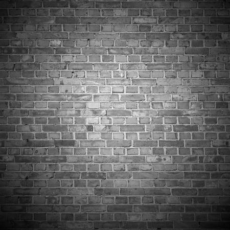 古いレンガの壁のビネットの図とテクスチャ背景黒と白背景 写真素材