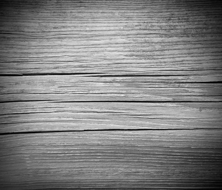 cracked wood board black and white background texture