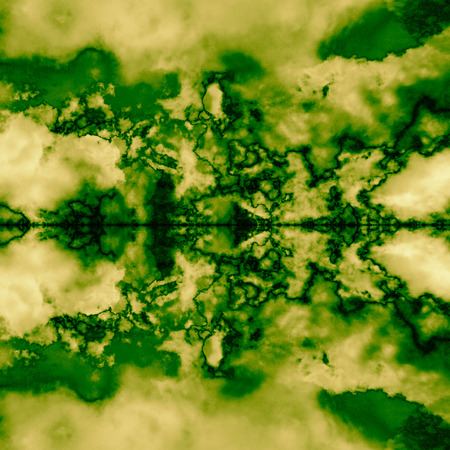 tomography: green fractal background abstract texture
