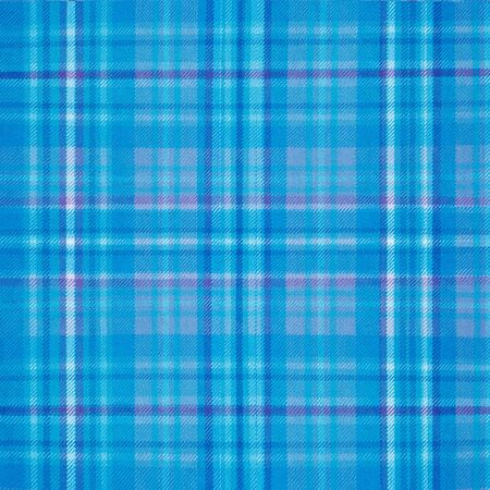 Fabric Texture: blue background wool fabric texture plaid pattern Stock Photo