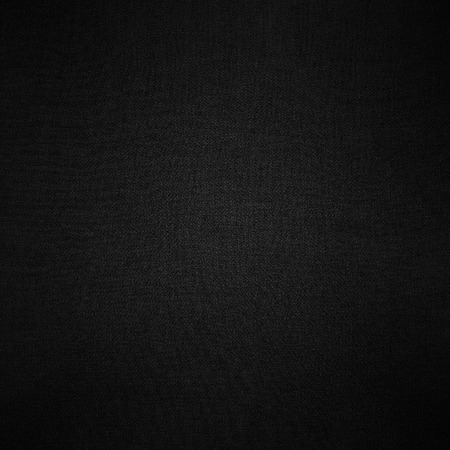 grid paper: black background linen fabric texture pattern Stock Photo