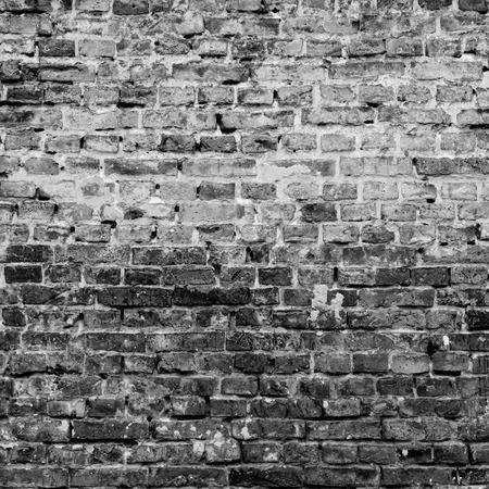 black and white brick wall texture grunge background