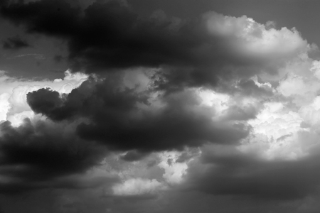 white clouds: black and white abstract background storm clouds Stock Photo