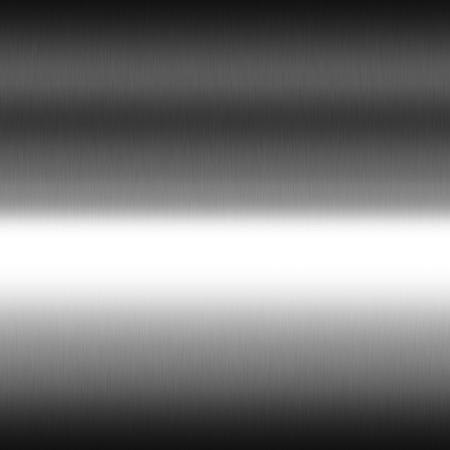 光の滑らかなクロム金属の質感のシームレスな背景、黒と白横縞