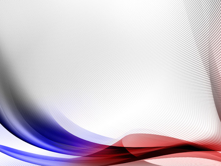 white abstract background with red and blue abstract curved lines and subtle grid texture pattern
