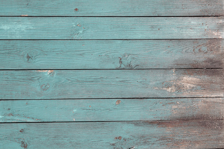 blue painted old wood planks texture grunge background