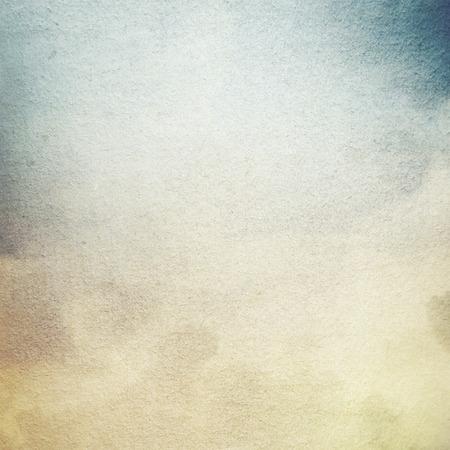 グランジ背景古い羊皮紙紙テクスチャ パターン抽象キャンバス パターン白い雲と青い空の景色