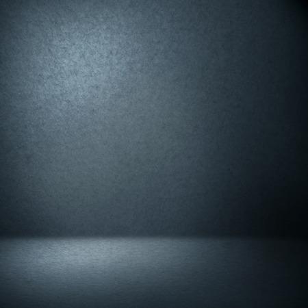 Marineblauw foto studio achtergrond suede papier textuur en lichtbundel in de hoek, lege kamer als grunge achtergrond textuur