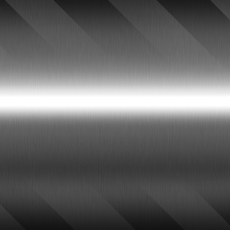 brushed: silver chrome metal background texture abstract pattern Stock Photo