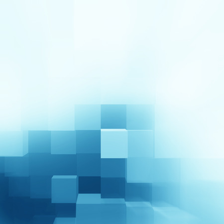 design background: blue abstract cubes background texture pattern, corporate brochure design template