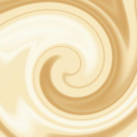 베이지 색 배경, 크림과 화이트 초콜릿 또는 우유와 커피 소용돌이 배경