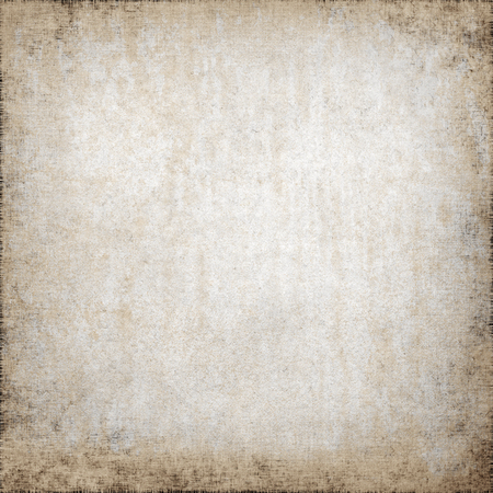 Oude papier textuur perkament grungy achtergrond, vuile muur achtergrond en vignet, canvas stof patroon
