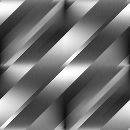 metal plate: seamless background steel metal texture diagonal lines pattern Stock Photo