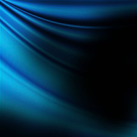 black blue: black and blue abstract background, decorative silk waves, grid pattern Stock Photo