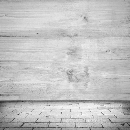 tiled wall: wood wall texture background and tiled sidewalk as urban background