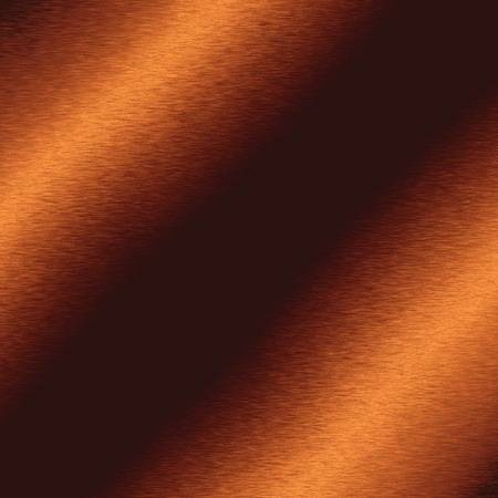 copper background: copper background metal texture abstract lines of light Stock Photo