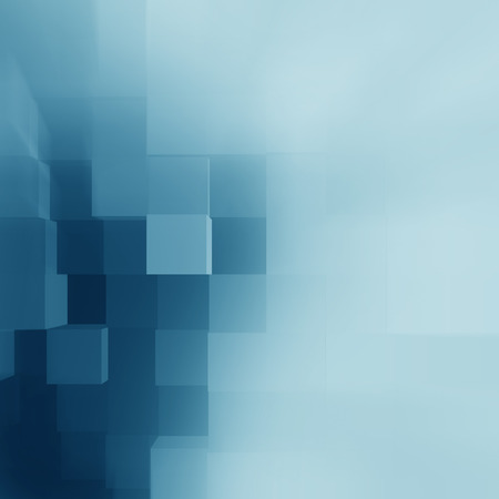 corporates: blue abstract background cubes pattern as corporate brochure cover template