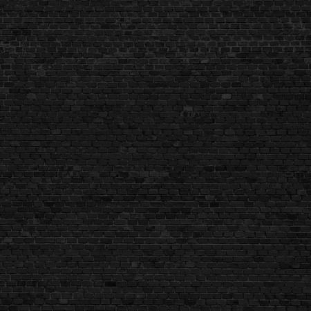 vintage wall: black background brick wall texture Stock Photo