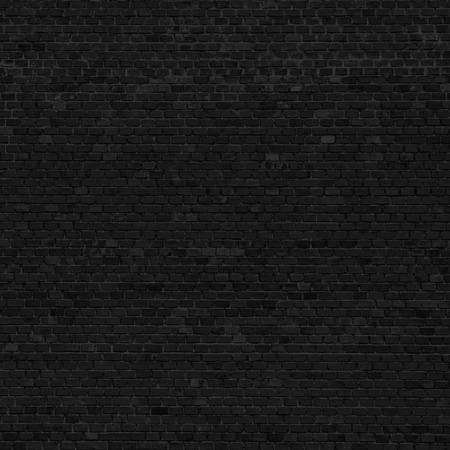 black block: fondo negro pared de ladrillo Foto de archivo