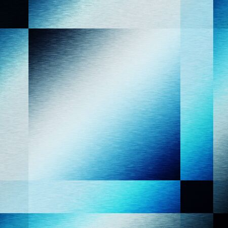 lighting effects: blue background metal texture abstract square shapes and lighting effects Stock Photo