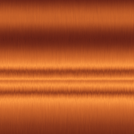 銅の背景、滑らかな金属のテクスチャ背景