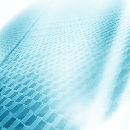 blue light background: bright blue abstract background industrial mesh texture and white  beams of light Stock Photo