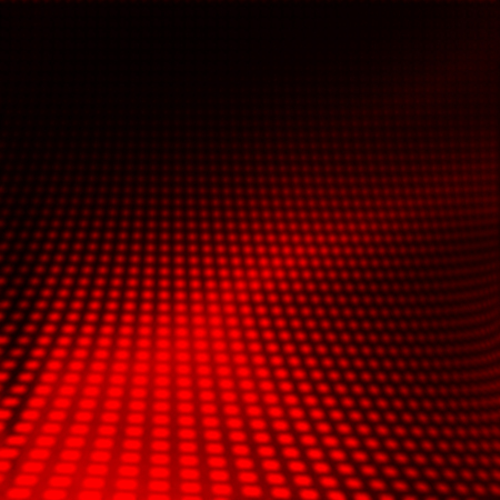 red abstract dots pattern on black background Stock Photo