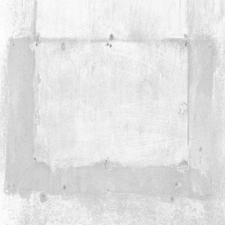 paint peeling: old wall texture white background, painting trace or concrete frame billboard space