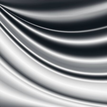 black satin: black and white satin background wavy pattern