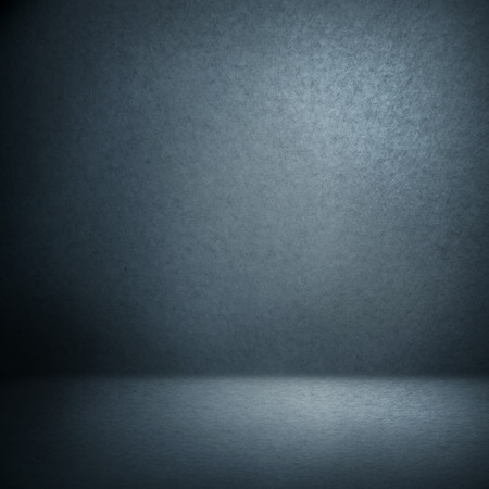 spotlight: navy blue suede background and beam of lights, empty room as grunge background texture Stock Photo