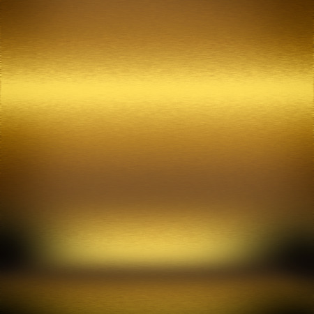 alluminum: gold metal texture abstract background empty room interior background Stock Photo