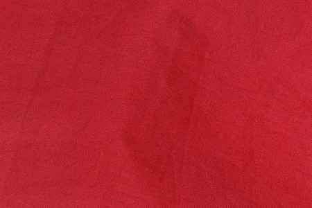 red jeans: red canvas fabric texture background delicate grid pattern Stock Photo