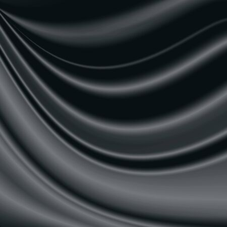 metalic design: black and gray abstract background satin fabric texture wave pattern