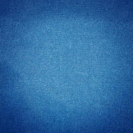 ブルー ジーンズの生地テクスチャ背景、モダンなデニム テクスチャ微妙なライン柄 写真素材