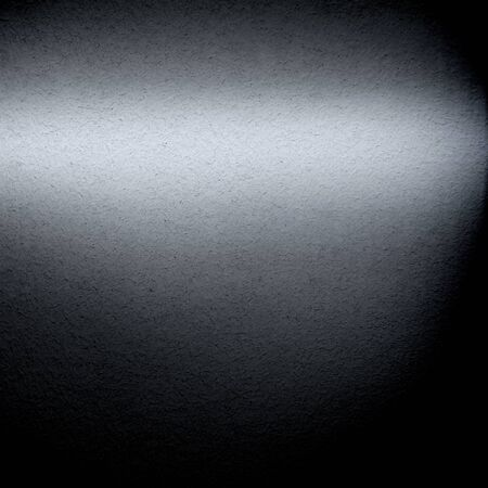 sheet of paper: steel wall metal texture background, beam of light and vignette gradient background