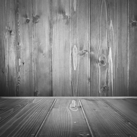 tiled wall: old wood interior background, barn wood texture background wall and tiled floor in brown color