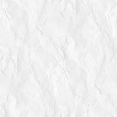 old crumpled paper texture white background seamless pattern Standard-Bild
