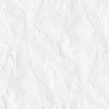 old crumpled paper texture white background seamless pattern Stock Photo