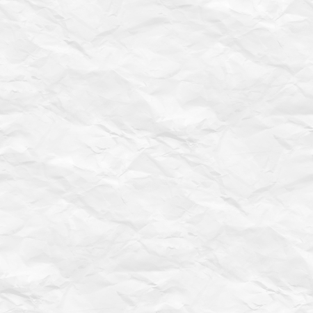 crumpled paper texture white background Stock Photo
