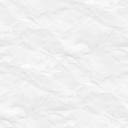 crumpled paper texture white background Archivio Fotografico