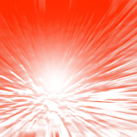 red abstract: christmas background, spotlight and white abstract rays of light on red background