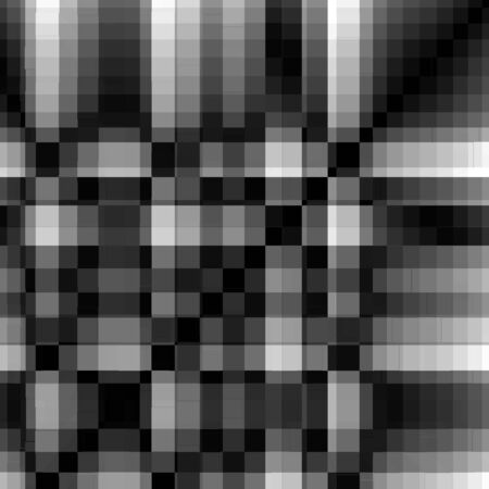 printed: checker board abstract seamless pattern grid texture in black and white Stock Photo