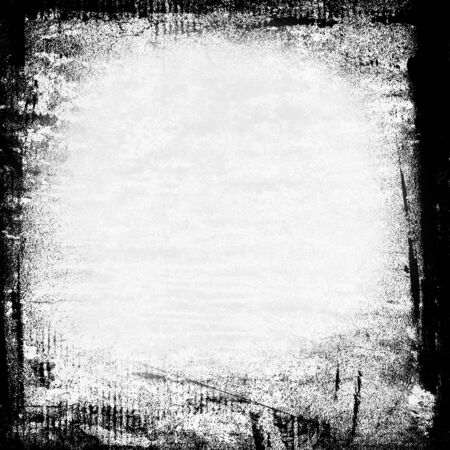 graphity: sketchy black and white grunge background painted frame on wall texture with copy space