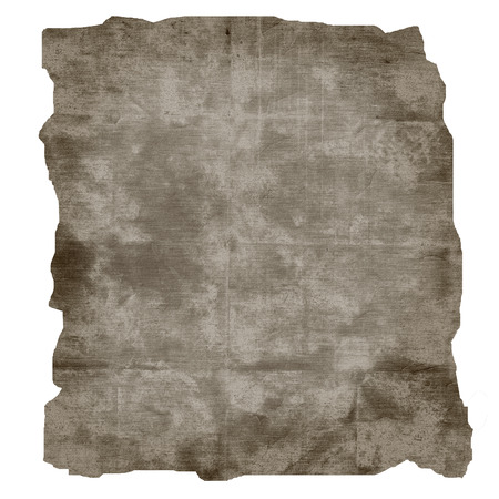 sheet of scrap paper texture, burnt edges paper isolated on white background